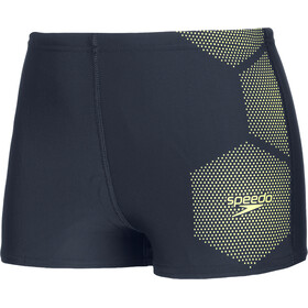 speedo Tech Placement Aquashorts Boys true navy/fluo yellow